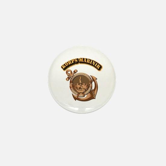 Korps Marinir- With Text Mini Button