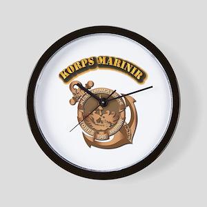 Korps Marinir- With Text Wall Clock