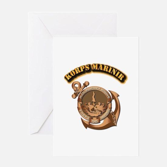 Korps Marinir- With Text Greeting Card