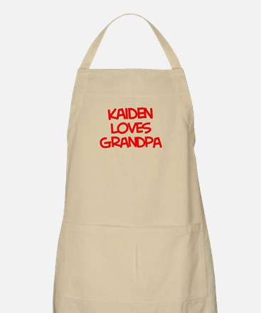 Kaiden Loves Grandpa BBQ Apron