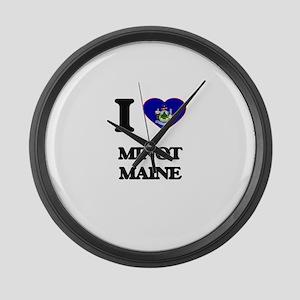 I love Minot Maine Large Wall Clock