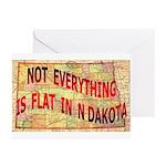 Flat N Dakota Greeting Cards (Pk of 10)