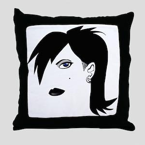 Dark Girl Throw Pillow
