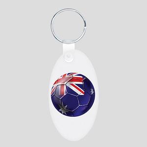 Australia Football Aluminum Oval Keychain