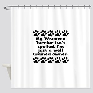 My Wheaten Terrier Isnt Spoiled Shower Curtain