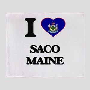 I love Saco Maine Throw Blanket