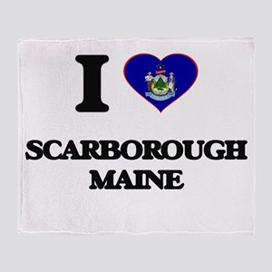 I love Scarborough Maine Throw Blanket