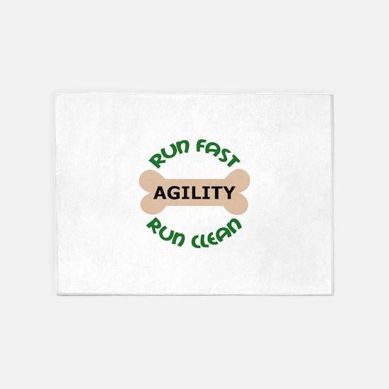 Run Fast Run Clean 5'x7'Area Rug