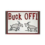 Goat Buck OFF Rectangle Magnet (100 pack)
