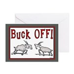 Goat Buck OFF Greeting Cards (Pk of 10)