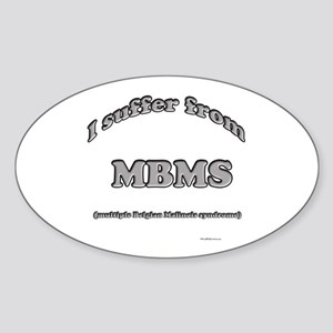 Malinois Syndrome Oval Sticker