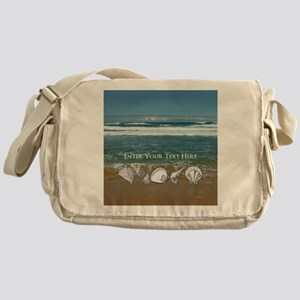 Customized Original Seashell Beach Art Messenger B