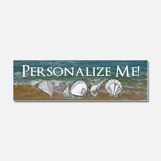 Customized Original Seashell Beach Art Car Magnet