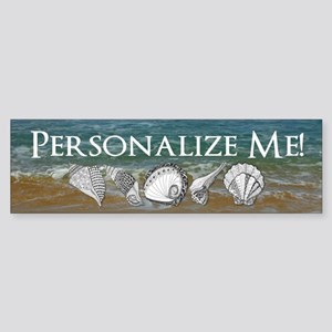Customized Original Seashell Beach Art Sticker (Bu