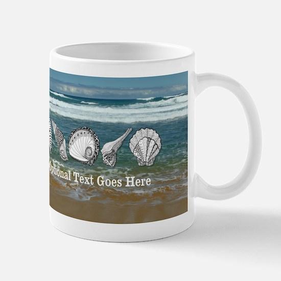 Customized Original Seashell Beach Art Mug