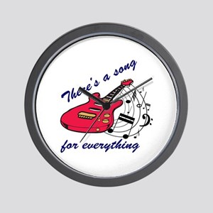 There's A Song For Everthing Wall Clock