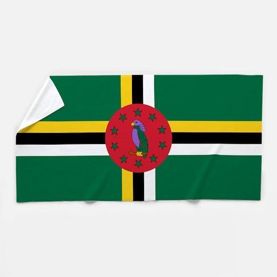 Flag of Dominica Beach Towel