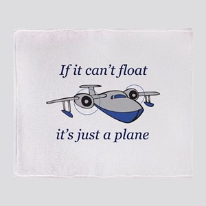 ITS JUST A PLANE Throw Blanket