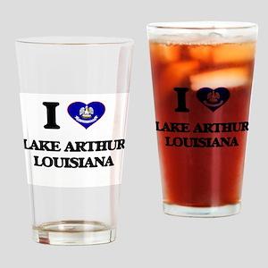 I love Lake Arthur Louisiana Drinking Glass