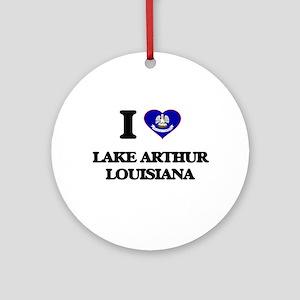 I love Lake Arthur Louisiana Ornament (Round)