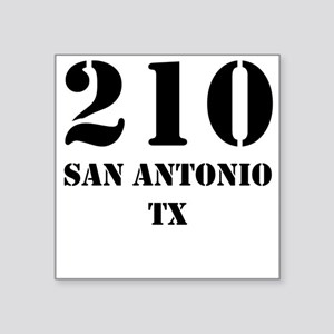 210 San Antonio TX Sticker