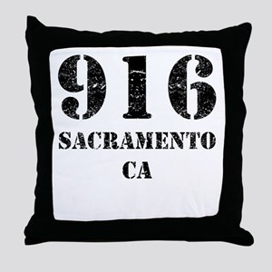 916 Sacramento CA Throw Pillow
