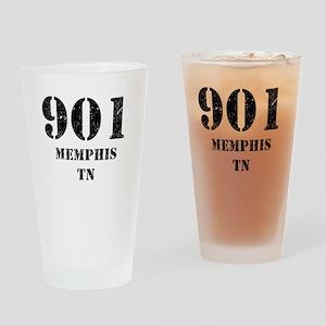 901 Memphis TN Drinking Glass