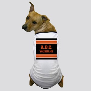 Orange and Black Jersey Stripes Person Dog T-Shirt
