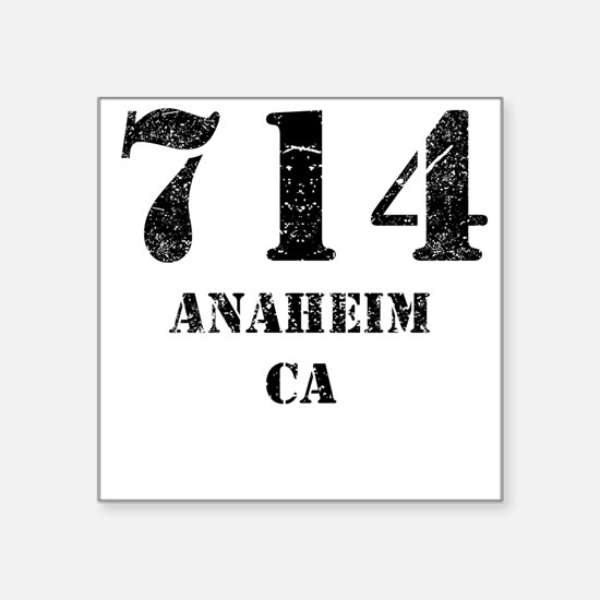 714 Anaheim CA Sticker