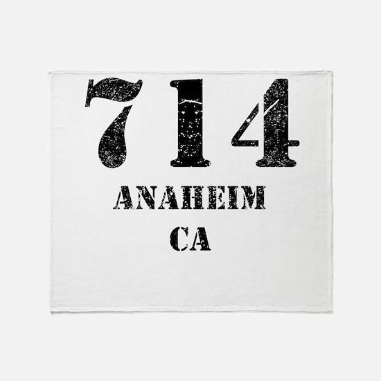 714 Anaheim CA Throw Blanket