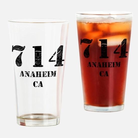 714 Anaheim CA Drinking Glass