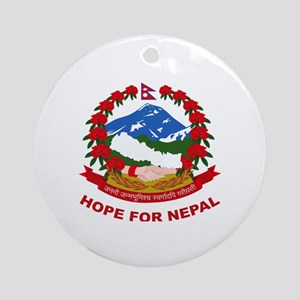 Nepal Relief Effort Round Ornament