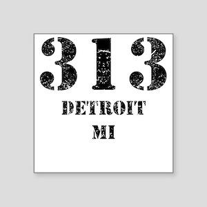 313 Detroit MI Sticker