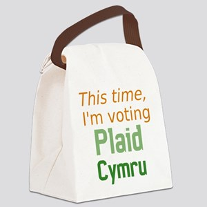 Plaid Canvas Lunch Bag