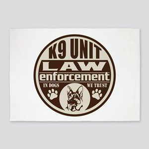K9 In Dogs We Trust Dark Brown 5'x7'Area Rug