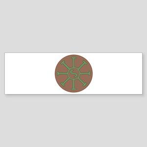 Sun Wheel Bumper Sticker