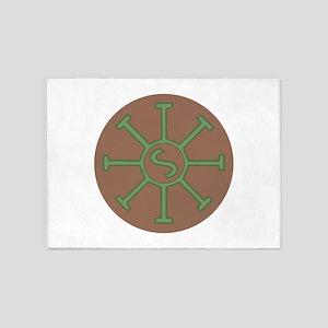 Sun Wheel 5'x7'Area Rug