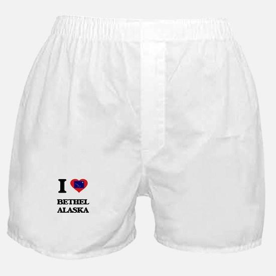 I love Bethel Alaska Boxer Shorts