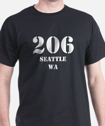 206 Seattle WA T-Shirt
