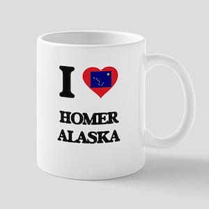 I love Homer Alaska Mugs