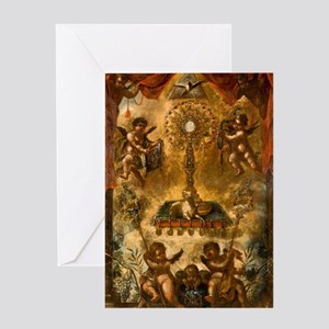 Allegory of the Eucharist Greeting Cards
