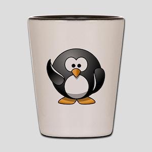 Penguin Wave Shot Glass