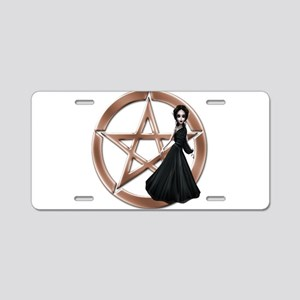 Goddess Bless Pagan Pentacle Aluminum License Plat