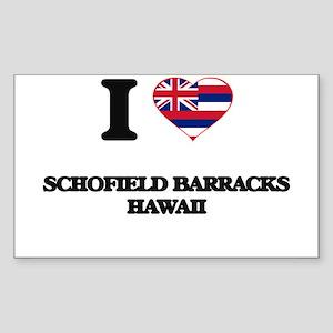I love Schofield Barracks Hawaii Sticker