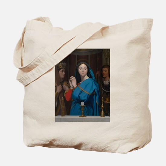 The Virgin Adoring the Host Tote Bag