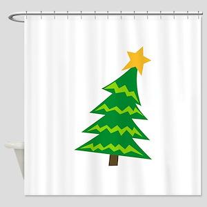 CHRISTMAS TREE MINI Shower Curtain