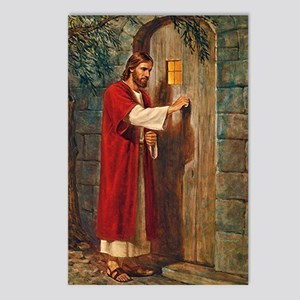 Jesus Knocks On The Door Postcards (package Of 8)