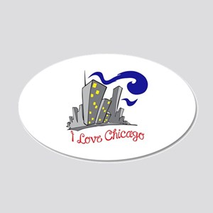 I LOVE CHICAGO Wall Decal