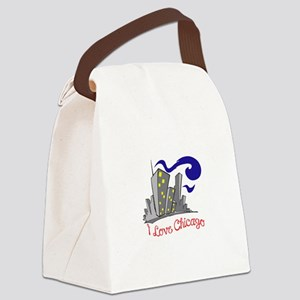 I LOVE CHICAGO Canvas Lunch Bag