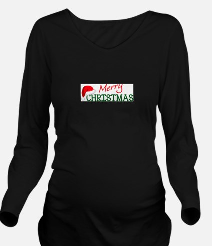 MERRY CHRISTMAS Long Sleeve Maternity T-Shirt